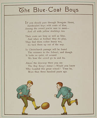 The Blue-coat Boys Poster by British Library