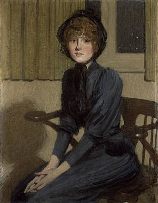The Blue Dress, 1892 Poster