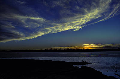 The Blue Hour Sunset Poster by Deb Buchanan