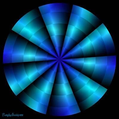 The Blue Propeller. 2013 80/80 Cm.  Poster