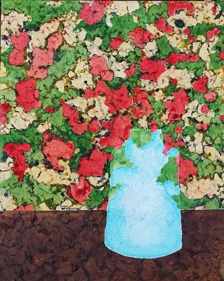 The Blue Vase Poster by Isaac Alcantar