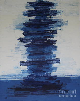 The Blue  Wall Poster by Christiane Schulze Art And Photography