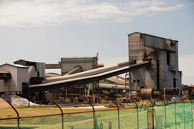 The Bluescope Steel Works Poster by Ashley Cooper