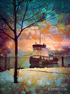 The Boat In Winter Poster by Tara Turner