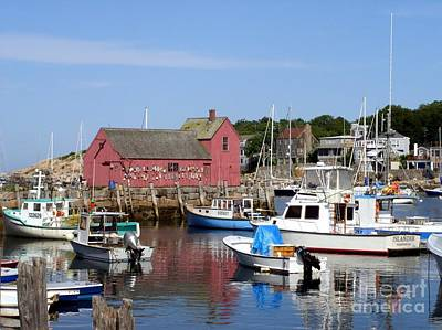 The Boat Yard At Rockport Poster by Mary Lou Chmura