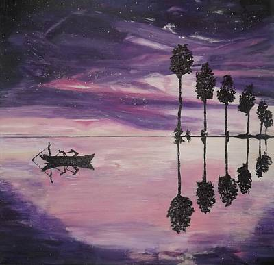 The Boaters Poster by Denise Morgan