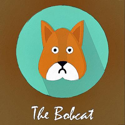 The Bobcat Cute Portrait Poster by Florian Rodarte