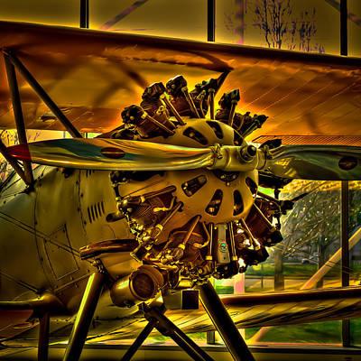 The Boeing Model 100 Biplane Poster