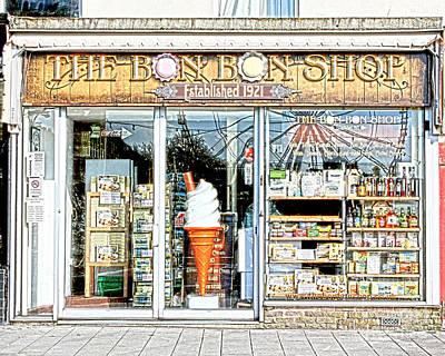 The Bon Bon Shop Torquay Poster by Terri Waters