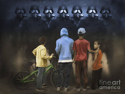 Poster featuring the digital art The Boogie Men by Dwayne Glapion