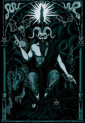 The Boss Blue Tint Poster by Steve Hartwell
