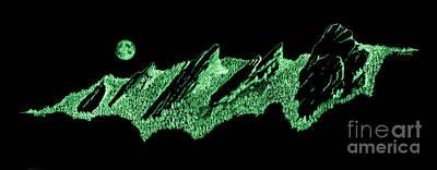 The Boulder Flatirons Green Poster