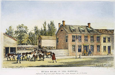 The Bowery, New York, 1783 Poster