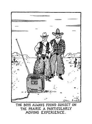 The Boys Allways Found Sunset On The Prairie Poster