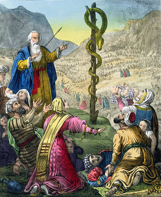 The Brazen Serpent, From A Bible Poster