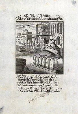 The Brewer, Old Master Print, 17th Century, 1600s, 1700s Poster