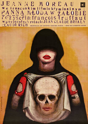 The Bride Wore Black, Polish Poster Poster by Everett