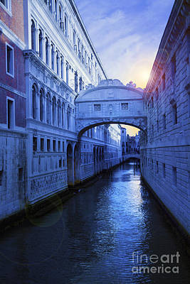 The Bridge Of Sighs Venice Poster by Simon Kayne