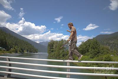 The Bridge Walk Poster by Graham Foulkes