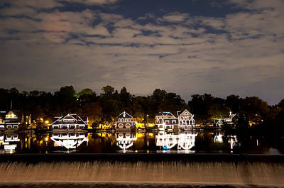 The Bright Lights Of Boathouse Row Poster by Bill Cannon