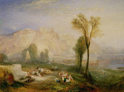 The Bright Stone Of Honour Ehrenbreitstein And The Tomb Of Marceau, From Byrons Childe Harold, 1835 Poster by Joseph Mallord William Turner
