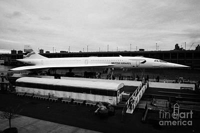 the British Airways Concorde exhibit from the Intrepid flight deck  Poster