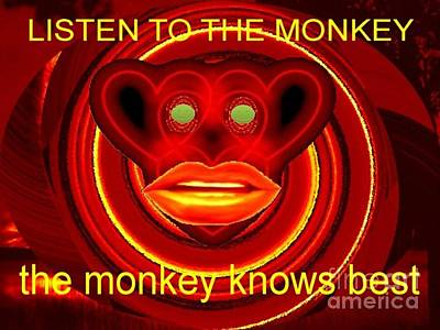 The Broadcast Monkey Poster by Catherine Lott