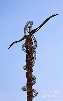 The Bronze Brazen Serpent Sculpture At Mount Nebo Jordan Poster