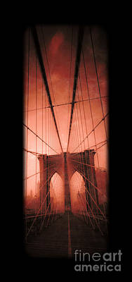 The Brooklyn Bridge Poster by Edward Fielding