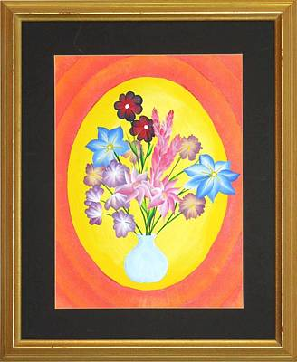 Poster featuring the painting The Bud Vase by Ron Davidson
