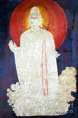 Poster featuring the painting The Buddha's Light by Fei A