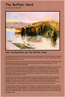 The Buffalo Heard  Poster by Charles Russell