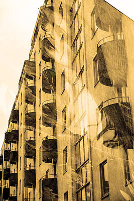 The Building And The Mystery Woman Poster by Tommytechno Sweden