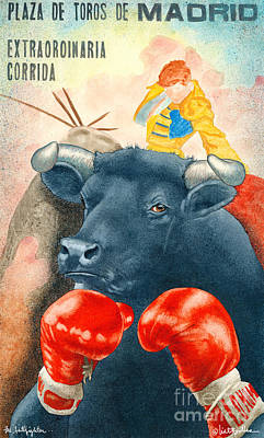The Bullfighter... Poster by Will Bullas