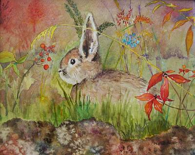 The Bunny Poster by Mary Ellen Mueller Legault