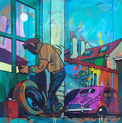 The Burglar Poster by Frans Mandigers