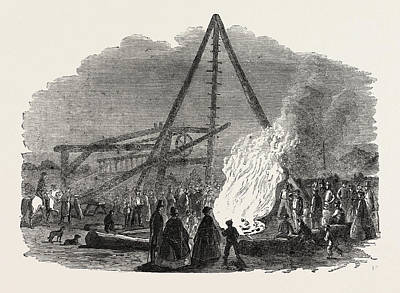 The Burning Well Near The Featherstone Station Poster
