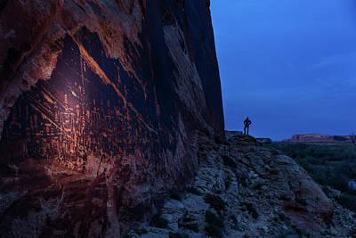 The Butler Wash Petroglyph Panel Poster by Stephen Alvarez