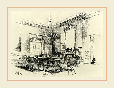 The Cabinet Room, White House, 19th Century Poster by Liszt collection