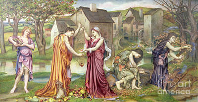 The Cadence Of Autumn Poster by Evelyn De Morgan