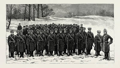 The Cadets In Winter -costume, British Naval Defences Poster by Litz Collection