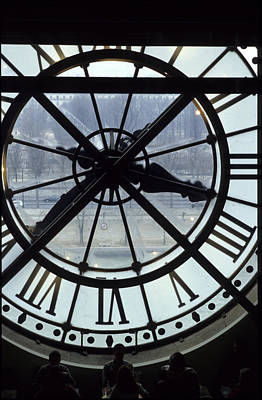 The Cafe Of The Musee Of Orsay In Paris With Clock Poster