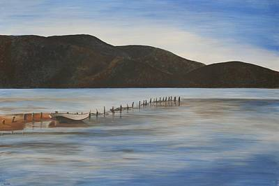 Poster featuring the painting The Calm Water Of Akyaka by Tracey Harrington-Simpson