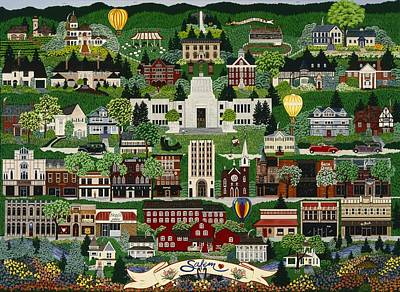 Poster featuring the painting The Capitol Salem by Jennifer Lake