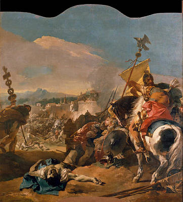 The Capture Of Carthage Poster by Giovanni Domenico Tiepolo