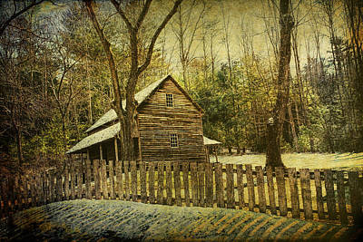 The Carter Shields Cabin In Cades Cove In The Smokey Mountains Poster by Randall Nyhof