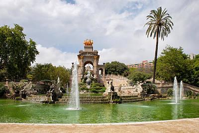 The Cascada In Ciutadella Park In Barcelona Poster by Artur Bogacki
