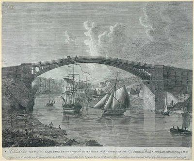 The Cast Iron Bridge Poster by British Library