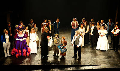 The Cast Of Les Miserables Poster by Diane Lent