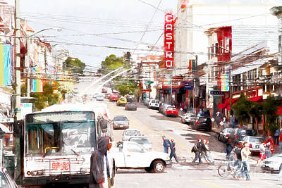 The Castro District In San Francisco 7d7573wcstyle Poster